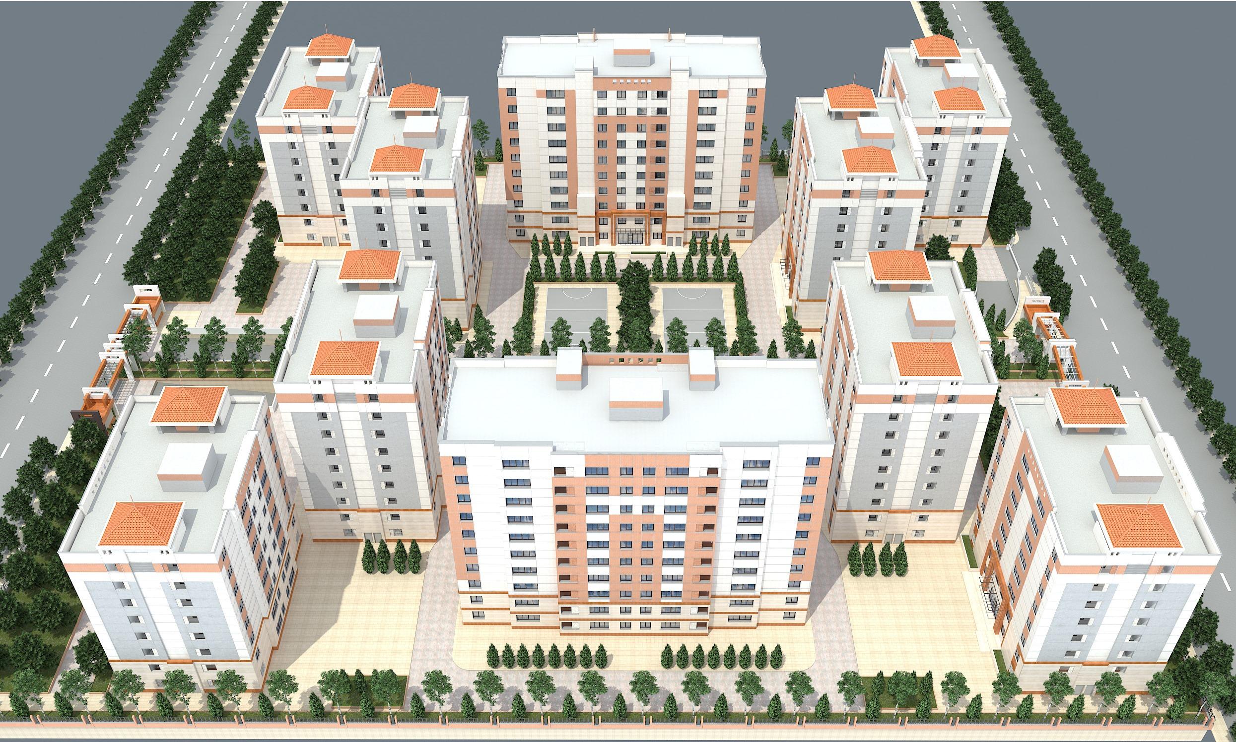 پروژه 197 واحدی مسکونی نسیم مشهد